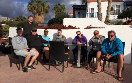 Morgens halb Zehn auf Fuerteventura. Kein Mensch will ein Knoppers…