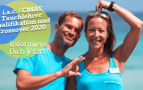 i.a.c. / CMAS Tauchlehrer Qualifikation und Crossover 2020